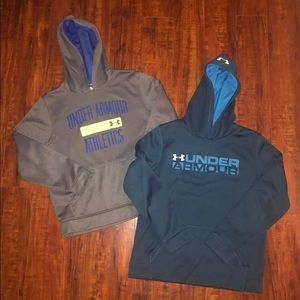 2 Under Armour Hoodies Boys Large